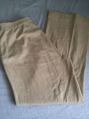 WOMENS TAN MARBLE BUTTON DRESS PANTS SZ 8