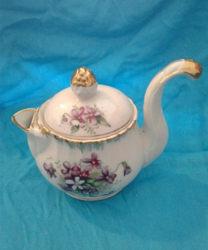 vintage tea creamer pot lidded gilt unique handle ucagco china made in japan wow