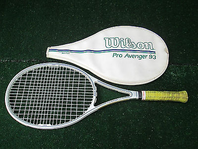 Tennis Wilson Pro Avenger 93 Tennis Racket Very Good Condition + Cover 4 3/8
