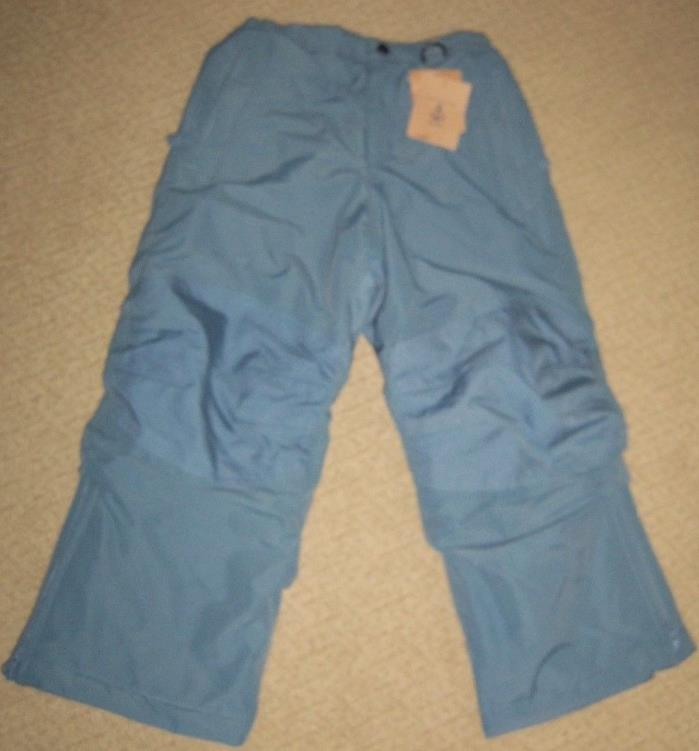 NWT Lands End Kids Unisex Squall Snow Pants Grow-A-Longs sz 6 'Deck Gray' NICE!