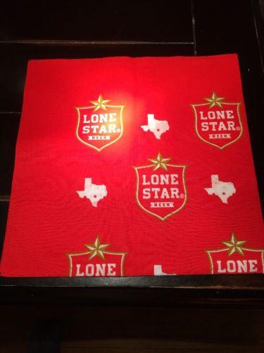 Lone Star Beer Red Bandana Head Scarf Texas Head Band