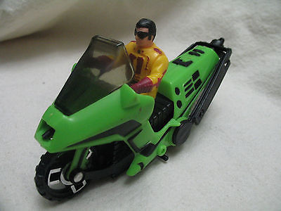 Vintage 1985 M.A.S.K. CONDOR w/ BRAD TURNER Green Helicopter Motocycle MASK