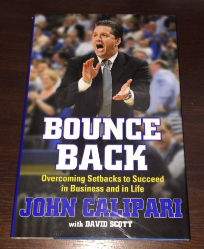 JOHN CALIPARI Autographed Signed Book BOUNCE BACK UK Basketball 1st Edition Copy