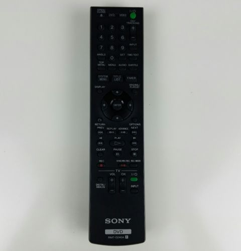 Sony RMT-D240A Remote Control for RDR-VX525 RDR-VX555 RDR-VXD655