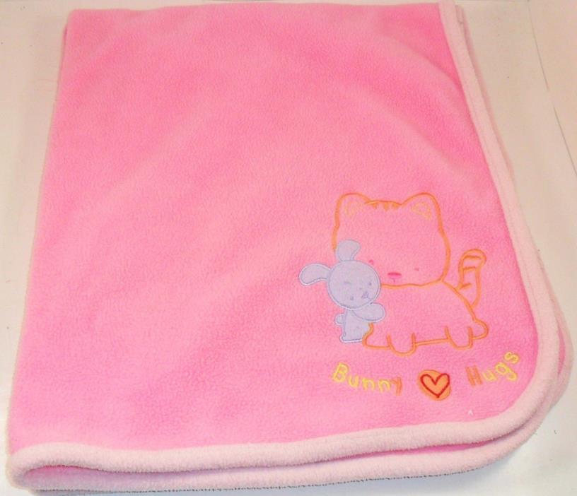 Carters Bunny Hugs Baby Crib Blanket Pink Child Of Mine 35