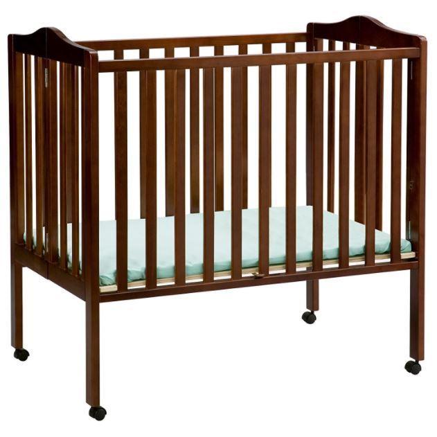 Daycare Cribs Portable Mini Crib Cherry Easy Storage Baby Home Grandmas Church