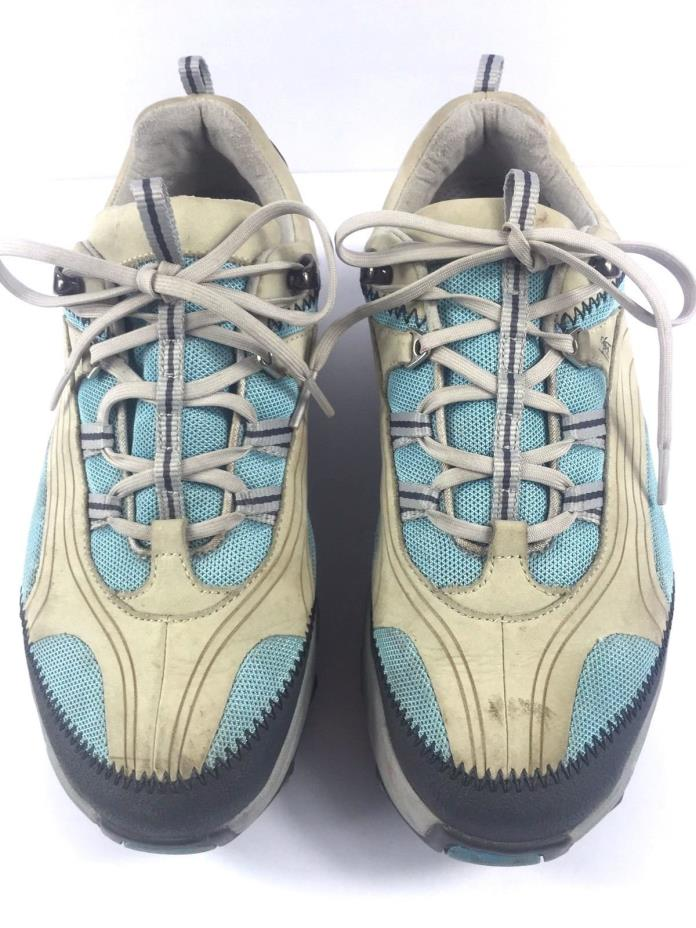 MBT Shoes Chapa Azul Womens Blue Ivory Nubuck Leather Swiss Walking Athletic 9.5