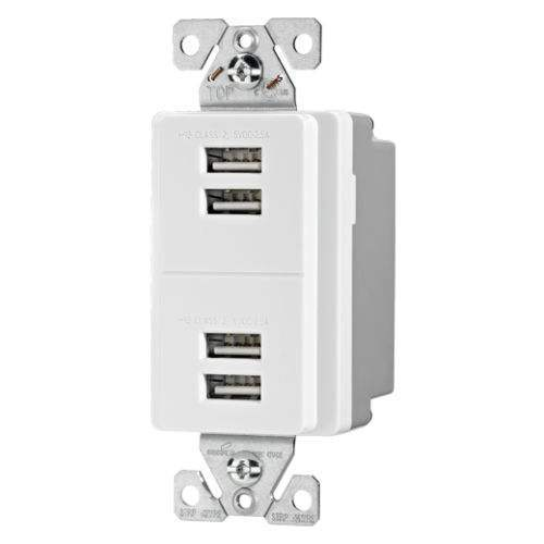 Arrow Hart /Cooper USB 4 port charging station white 7750W-BOW - new - free ship