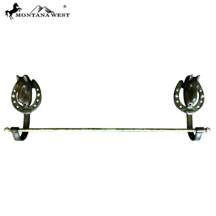 Western Metal Horse Towel Rack