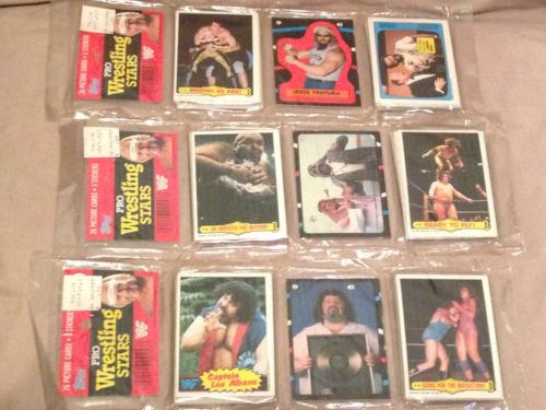 vintage old Pro Wrestling Stars Topps Trading Cards packs 1985 Titan sports WWF