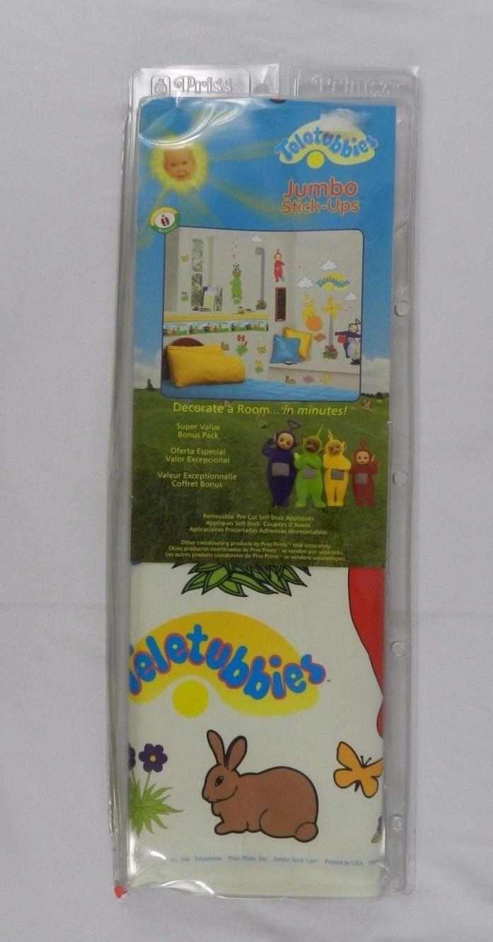 Teletubbies Jumbo Stick-Ups Wall Stickers Pictures Decorations Vintage 1998 Set