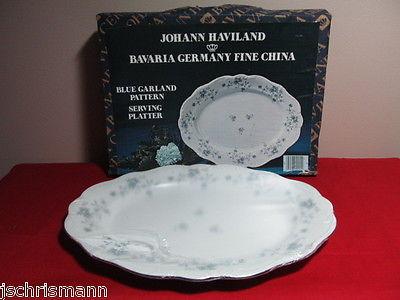 Haviland Blue Garland China 13 Inch Platter