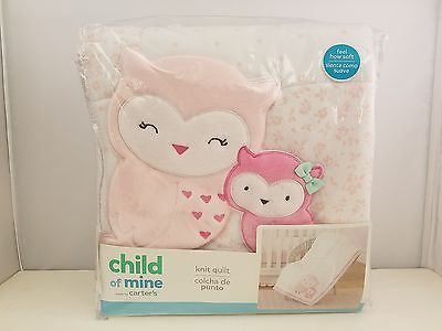 Child of Mine by Carter's Knit Quilt | Owls and Friends | NEW