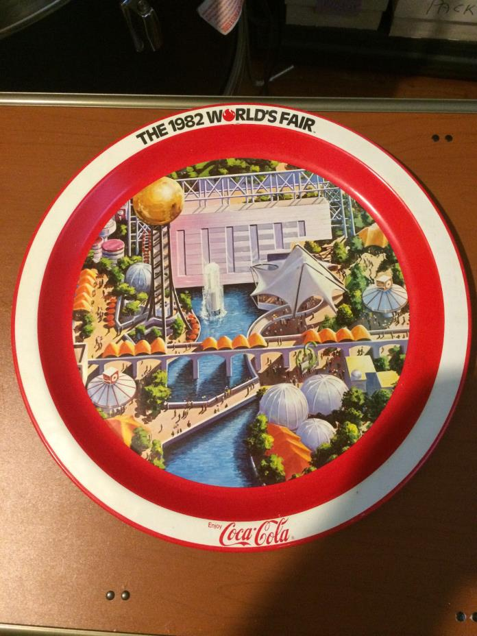 The 1982 Worlds Fair Coca-Cola Commemorative Serving Tray Plate