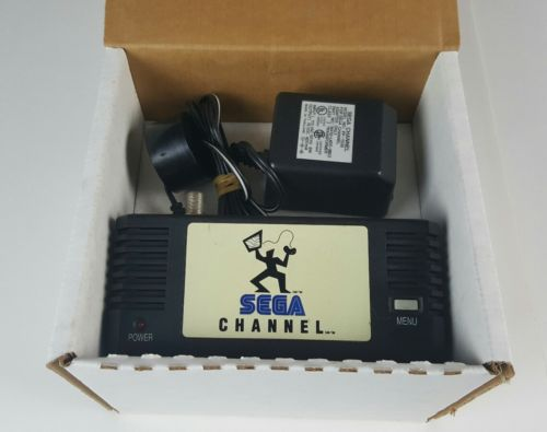 Sega Channel Sega Genesis Adapter Accessory w/Original Box & AC Adapter Rare