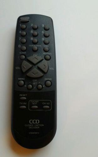 CCD Closed Caption Decoder 076N0DW010 Remote Control