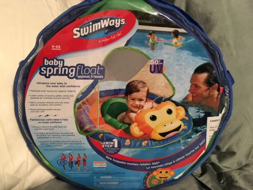 SwimWays baby spring float animal friends Monkey New