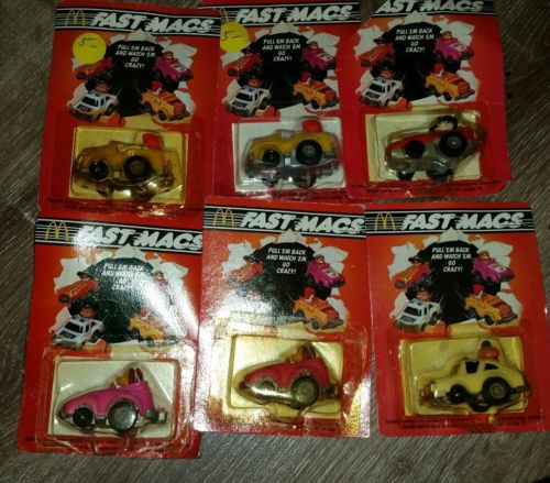McDonald's Vintage race car lot 6 on Card Ronald Hamburgler racing vtg