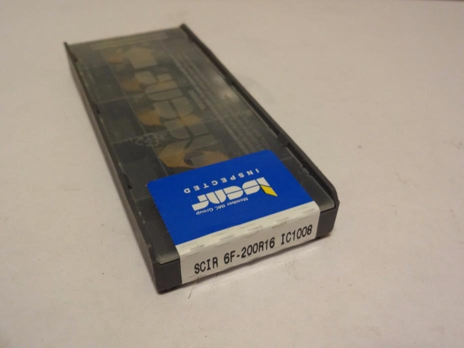 (Box of 5) Iscar SCIR 6F-200R16 IC1008 Milling Carbide Inserts