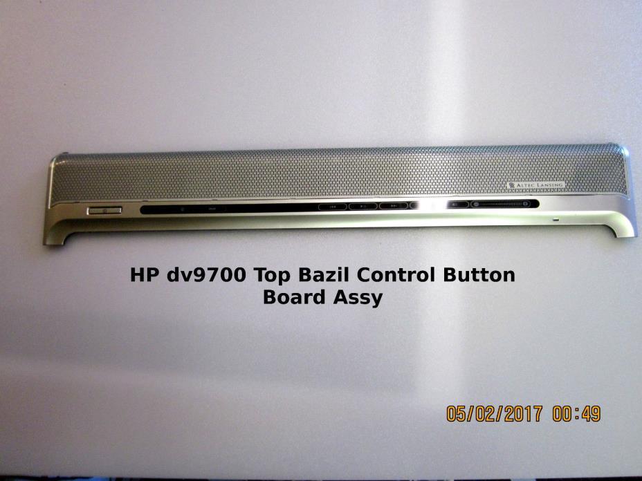 HP Pavillion dv9700 Top Bezel Control Button Board Assy