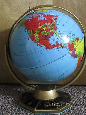 "Vintage 9"" Metal Globe J Chein & Company from 1950's-1960's"