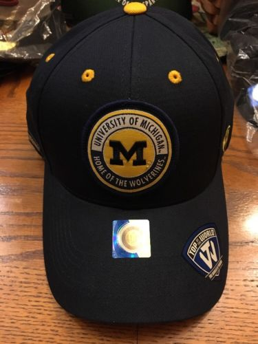 Michigan Wolverines NEW Mens Hat Cap Navy One Size SnapBack Adjustable