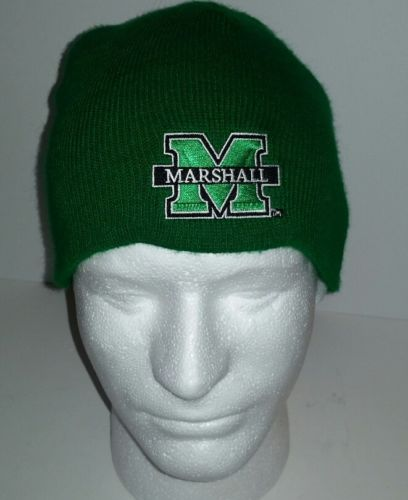 Marshall Thundering Herd embroidered green knit cap.