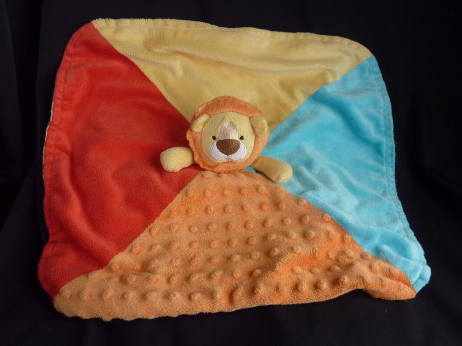 Koala Baby Colorful Textured LION Striped Underside Security Blanket Lovey Plush