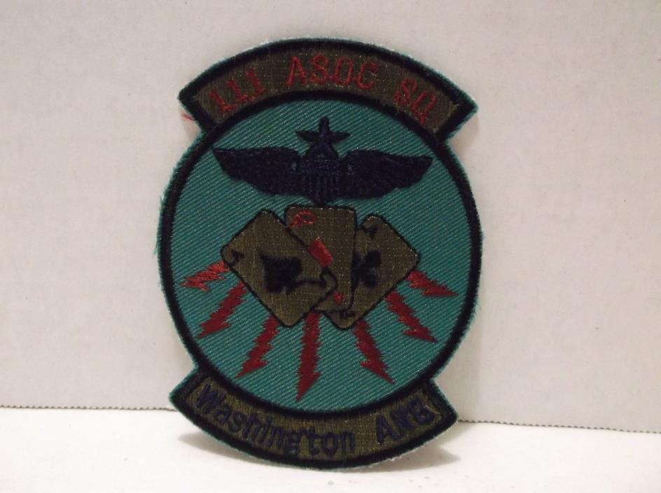 111 ASOC SQ Washington ANG Patch USAF Military
