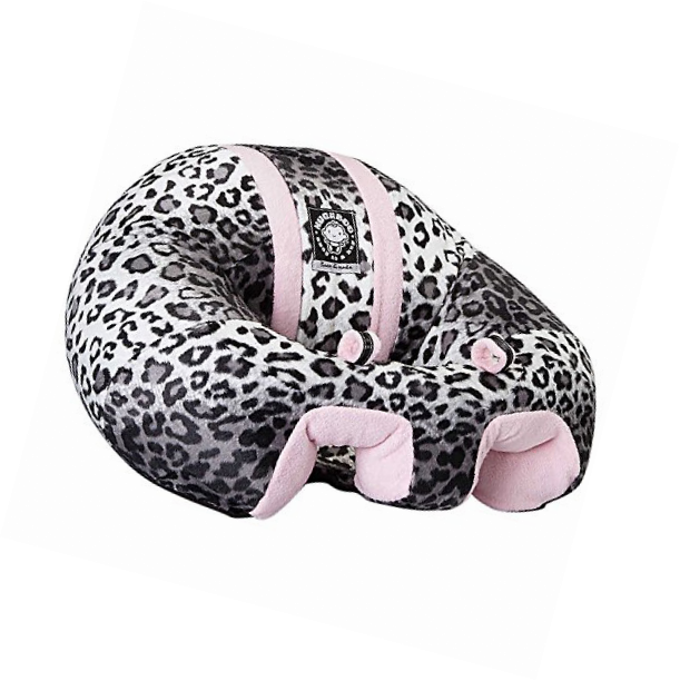 Hugaboo Infant Sitting Chair, Snow Leopard/Pink, 3-11 Months