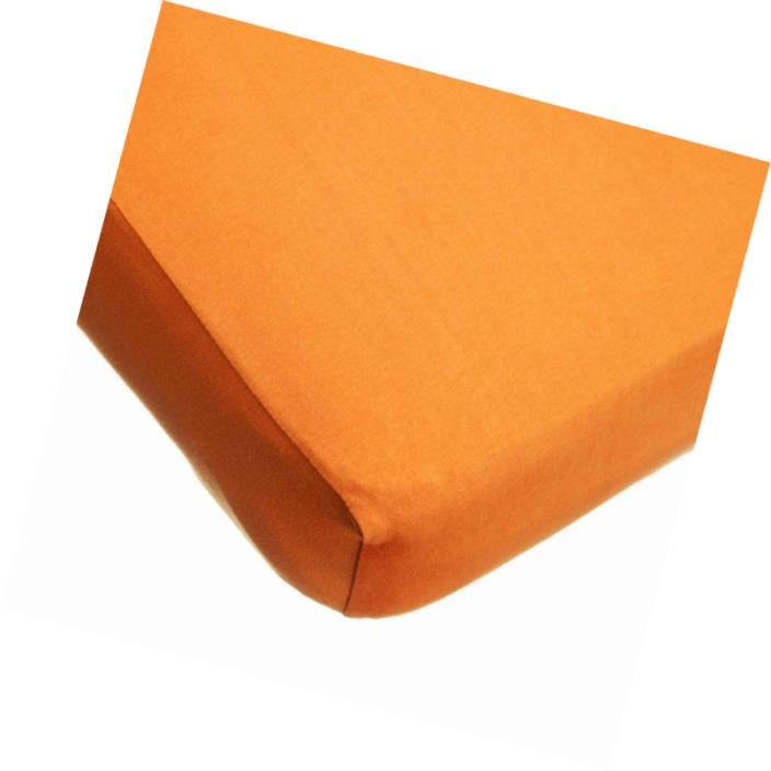 TL Care Supreme 100% Jersey Knit Crib Sheet, Orange