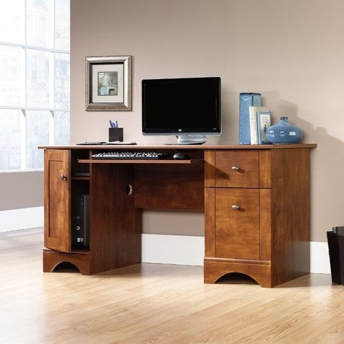 Sauder Computer Desk For Home Office With 2 Storage Drawers Student Table