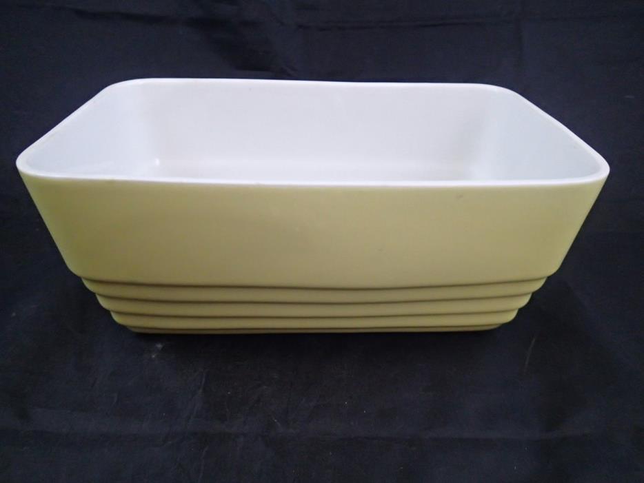 Vtg Art Deco Hall Yellow Casserole Fridge Dish