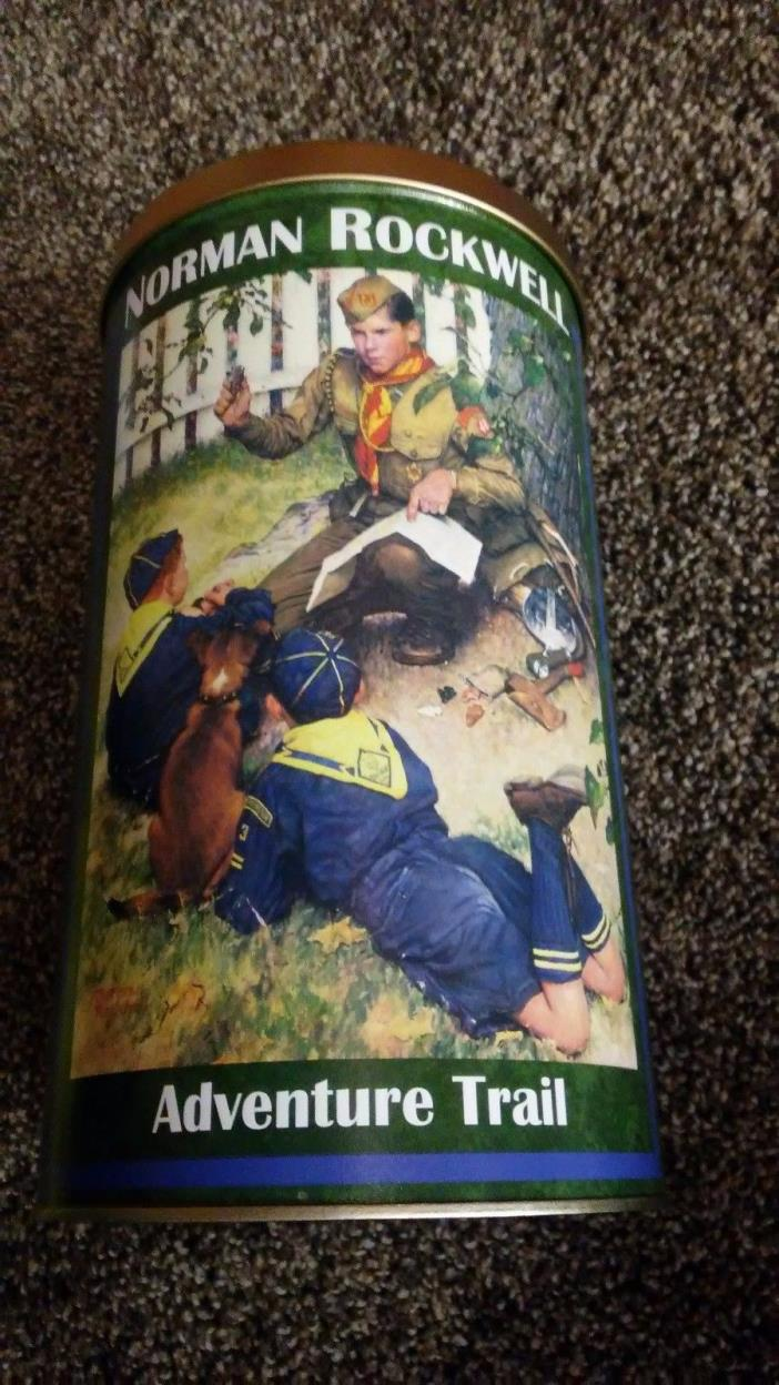 Norman Rockwell Adventure Trail tin excellent condition
