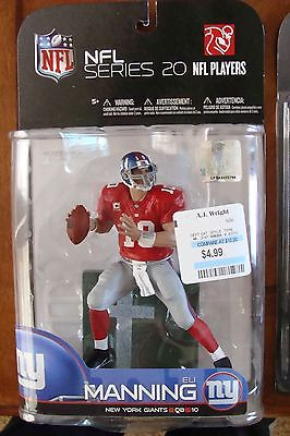 Eli Manning VARIANT McFarlane Series NFL Legends Red Jersey New York Giants