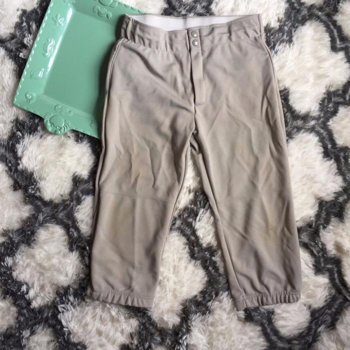 Women's Augusta Sportswear size medium gray softball pants waist across 13 1/2