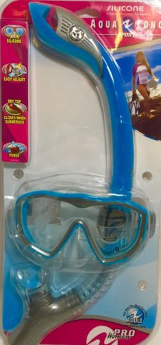 Brand New ~ AQUA LUNG WOMEN'S SNORKEL AND FACE MASK SET WATER SPORTS