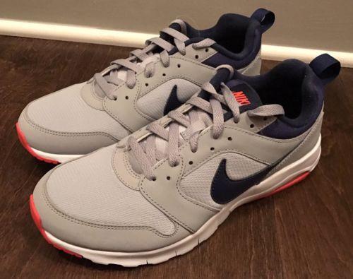 Nike Men's Air Max Motion 819798-046 Grey Blue Bright Crimson Orange Sz 8.5 New