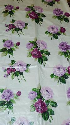 Vintage Chintz KANDELL~Cottage Chic~Cabbage Roses~ Fabric 9.25 ydd x 37