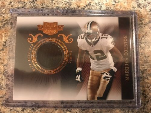 2010 Panini Plates & Patches #61 Marques Colston /299 Jersey Patch Saints NFL