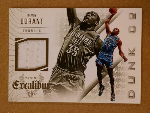 2014-15 PANINI EXCALIBUR DUNK COMPANY JERSEYS #20 KEVIN DURANT