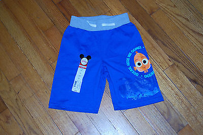 Disney Okie dokie Nemo Boys Shorts Draw String L 6  NWT $18