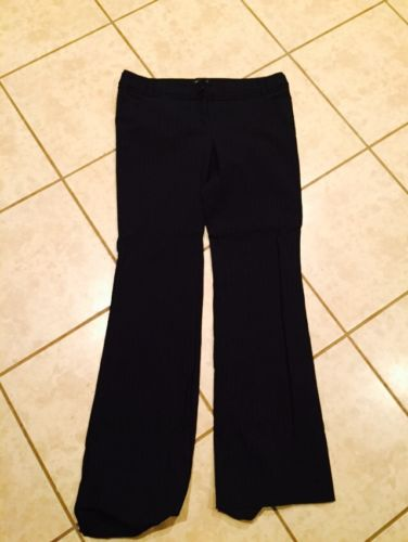 The Limited Black Drew Fit Work Dress Pants Size 10 Regular Black Pinstripe