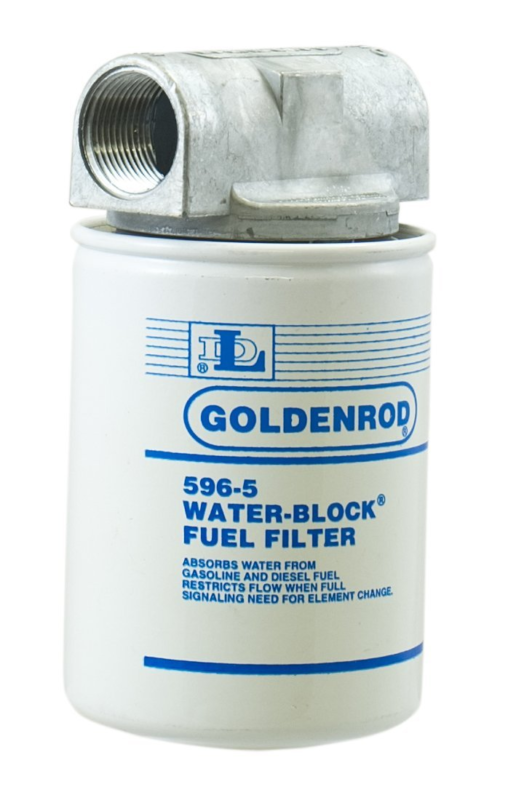 GOLDENROD (596) Canister Water-Block Fuel Tank Filter with 1