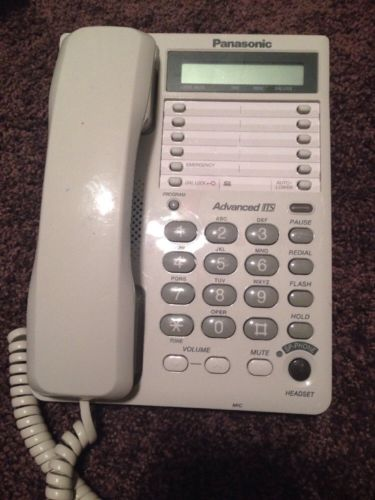 Panasonic KX-TS108W Digital LCD Display Speakerphone