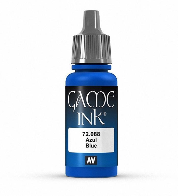 Brand New Vallejo Game Ink Paint 17ml Acrylic - Blue 72.088