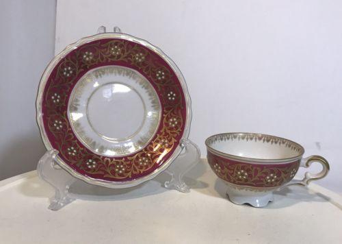 Vintage  Mitterteich Bavaria Tea Cup Saucer  Germany
