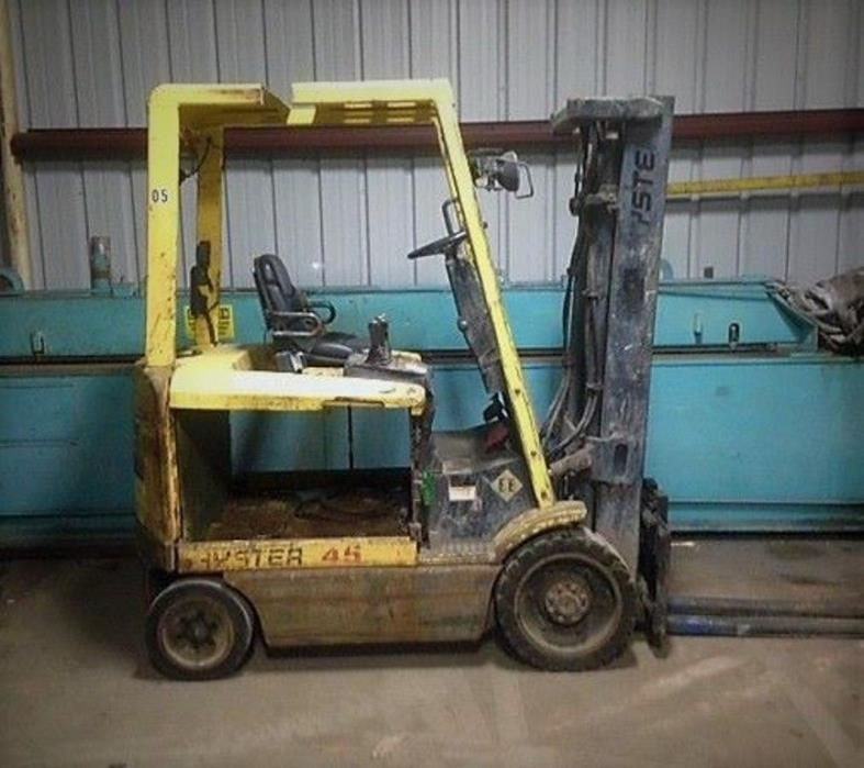 HYSTER 'EE' RATED ELECTRIC FORKLIFT