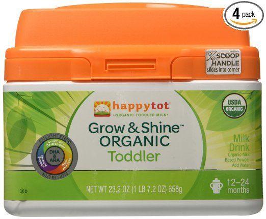 Happy Tot Grow & Shine Organic Toddler Milk 23.2 Oz