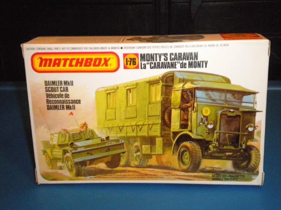 Matchbox 1/76 WWII British Monty's Caravan & Daimler Mk.II Scout PK-175
